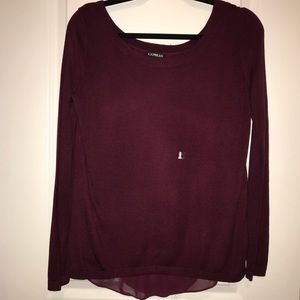 NWT! Express Maroon Open Back Top